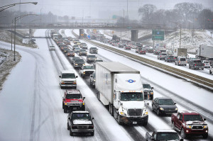 traffic jam on ice